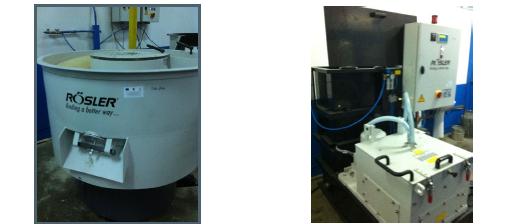 Debavurator toroidal si Sistem de preparare si recirculare fluide cu dozare automata